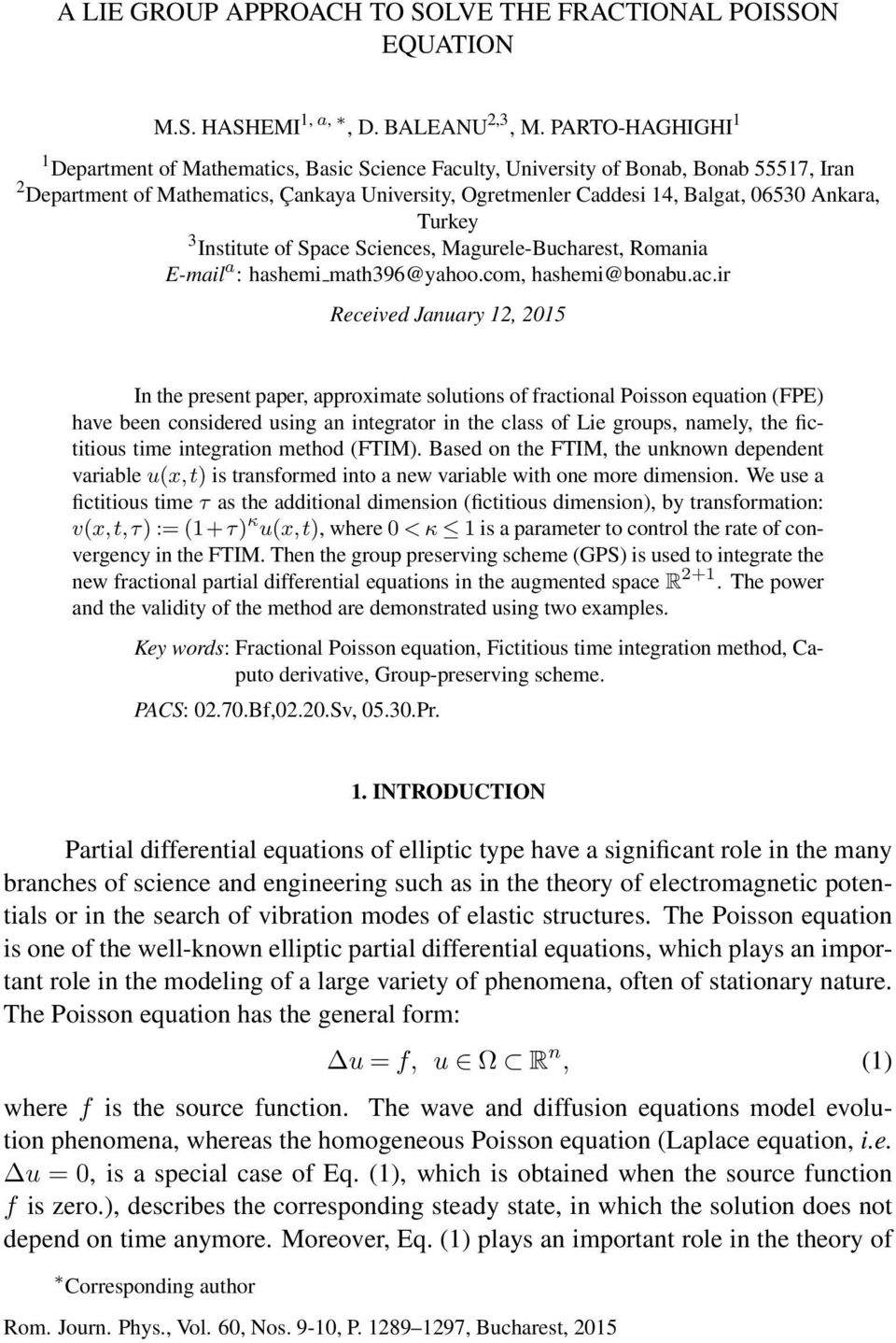 A LIE GROUP APPROACH TO SOLVE THE FRACTIONAL POISSON
