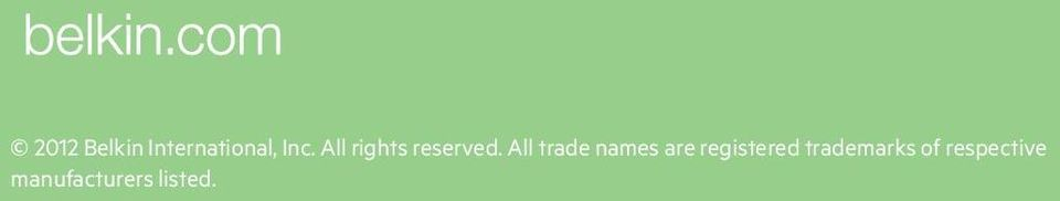 All trade names are registered