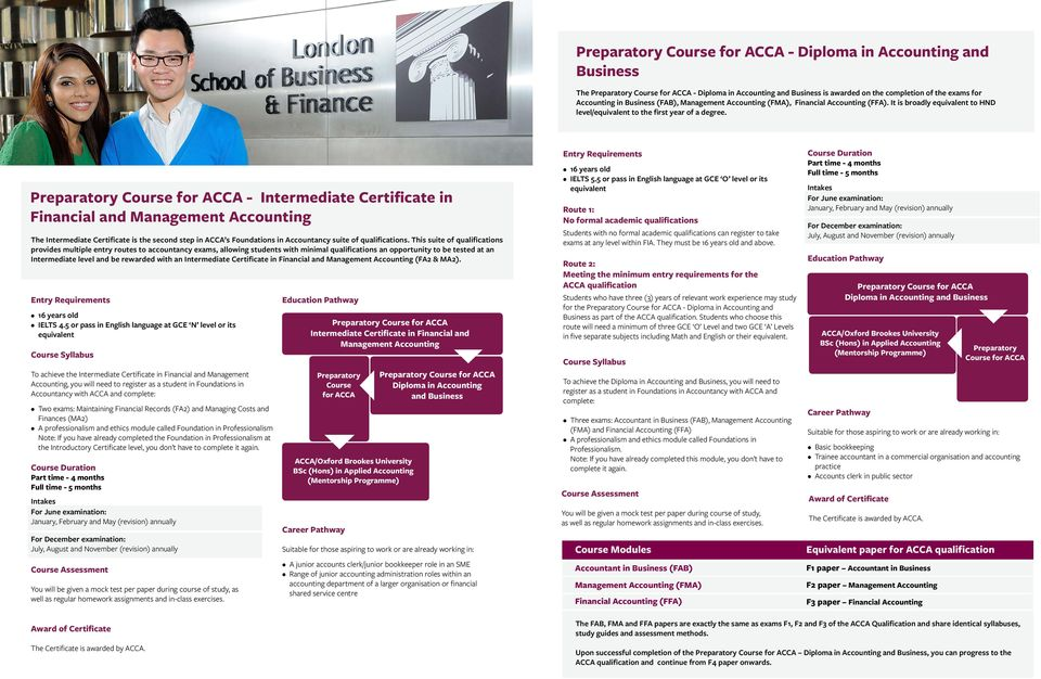 Preparatory Course for ACCA Introductory Certificate in Financial