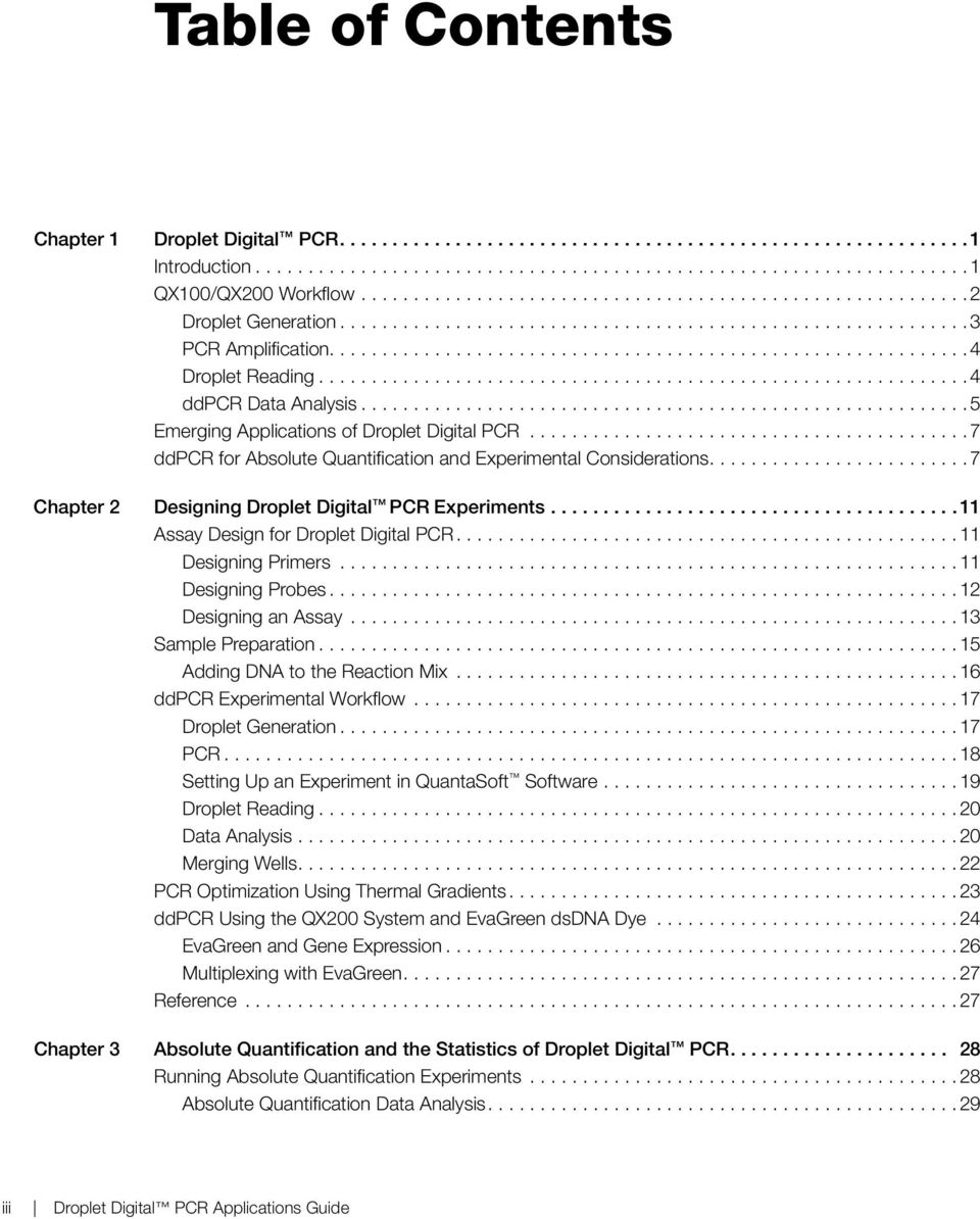 Droplet Digital PCR  Applications Guide - PDF