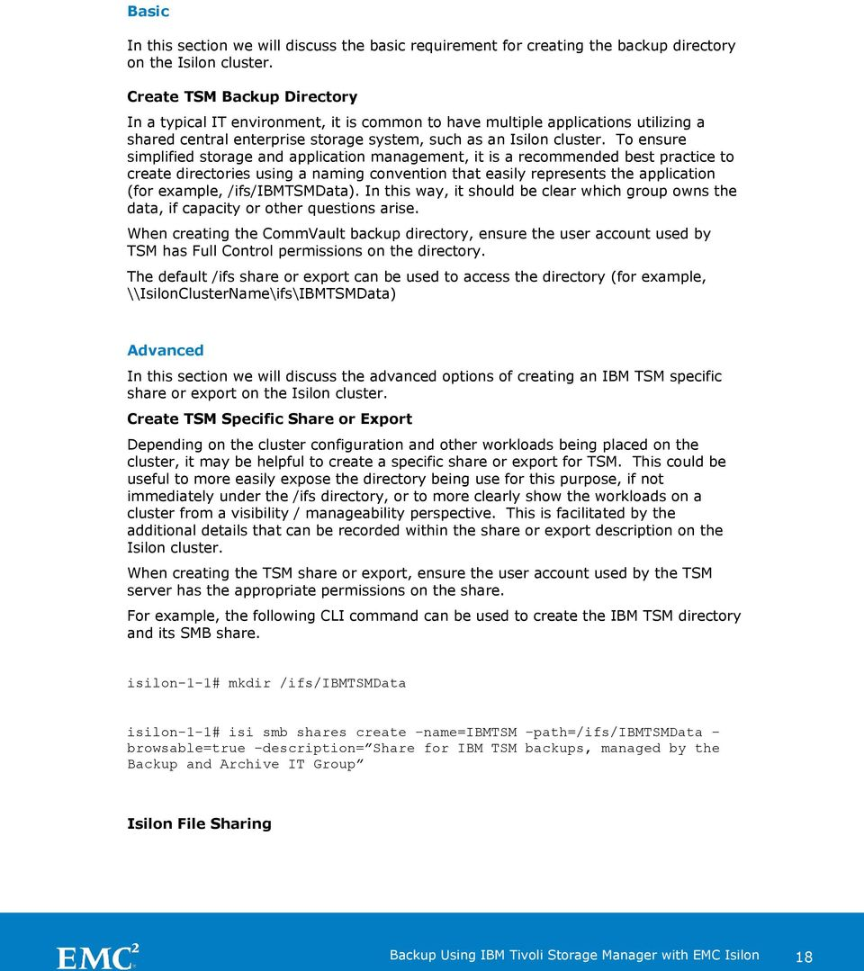 Best Practices for deploying a backup solution using IBM
