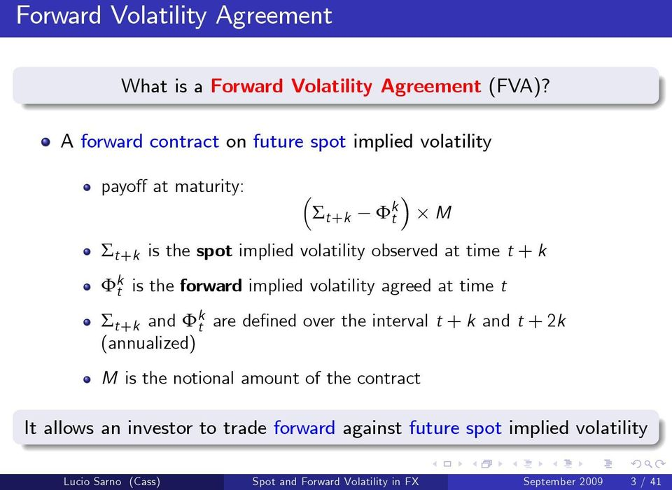 Spot And Forward Volatility In Foreign Exchange A New Forward Bias