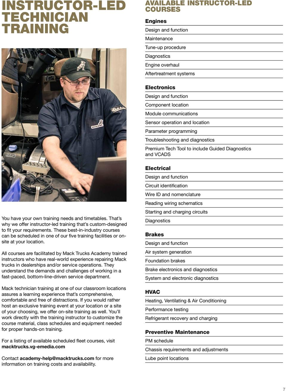 Customer Training Courses For Service Technicians Pdf Mack Truck Electrical Schematics Have Your Own Needs And Timetables That S Why We Offer Instructor Led 8 Trucks