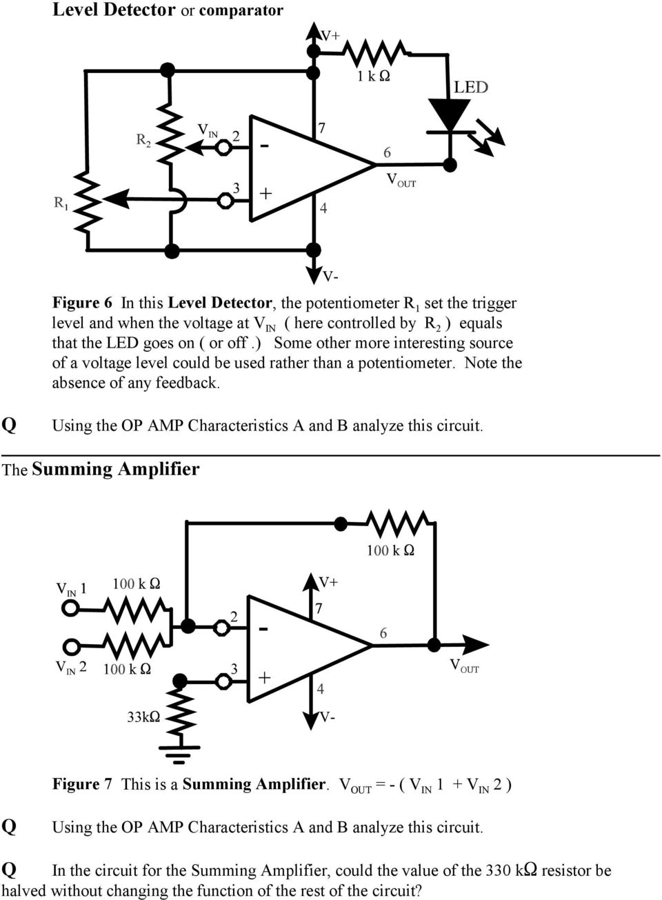 The Op Amp Figure 1 Pdf Amplifier You Would Think This Is A Non Inverting Summing Using Characteristics And B Analyze Circuit