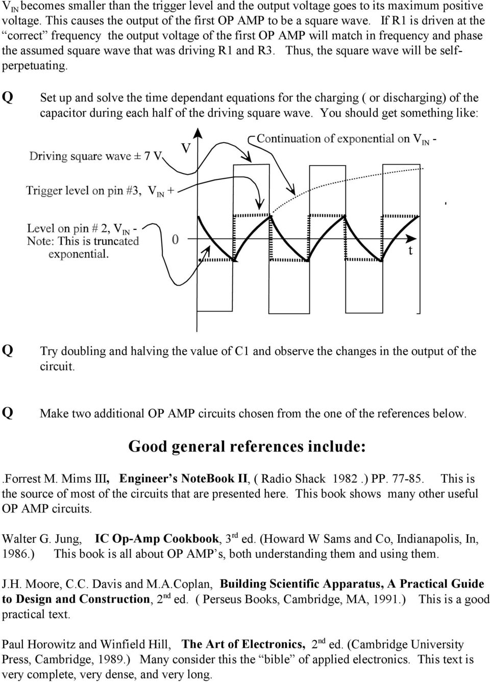 The Op Amp Figure 1 Pdf Introduction To 741 Operational Amplifier Tutorial Electronic Thus Square Wave Will Be Selfperpetuating Set Up And Solve Time Dependant