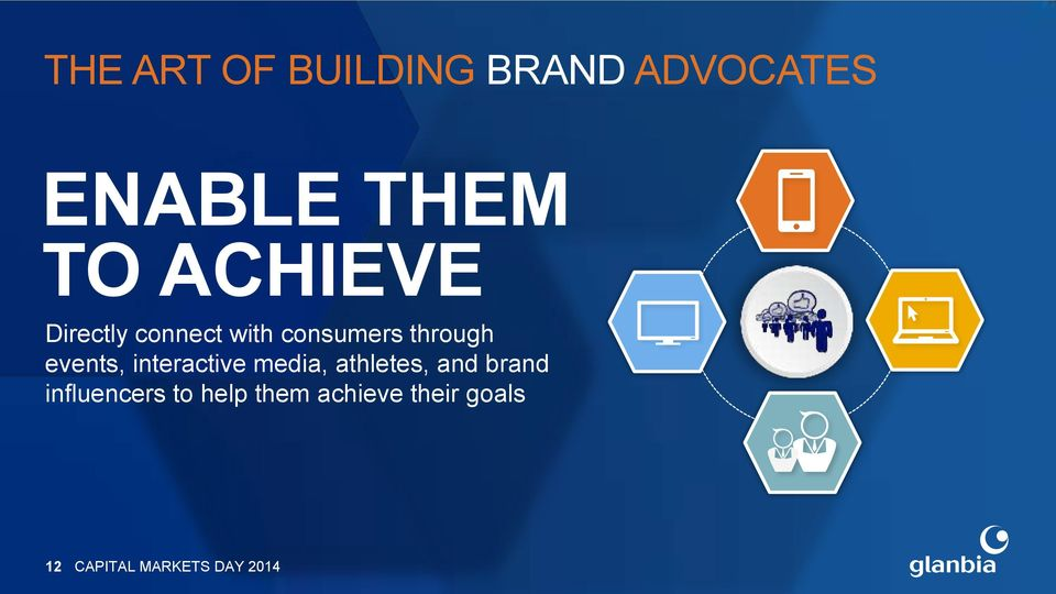 through events, interactive media, athletes, and