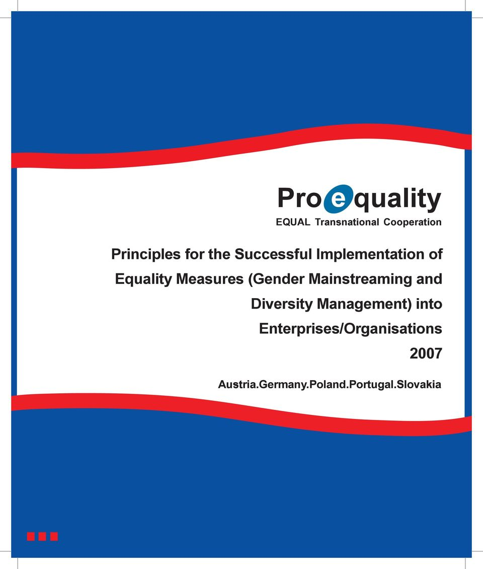 (Gender Mainstreaming and Diversity Management) into