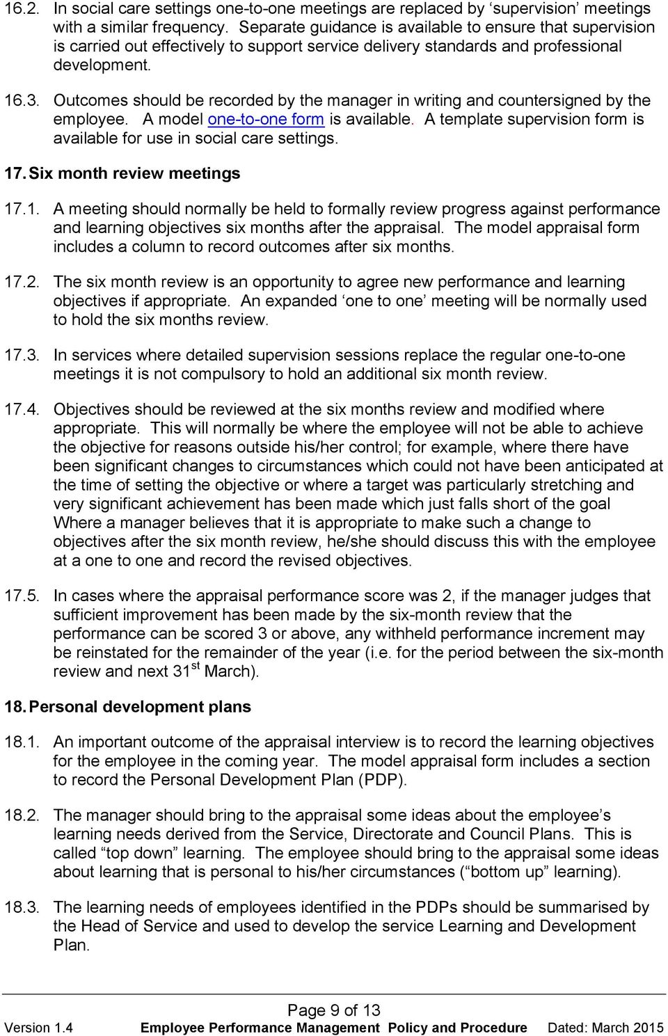 Employee Performance Management Policy and Procedure - PDF