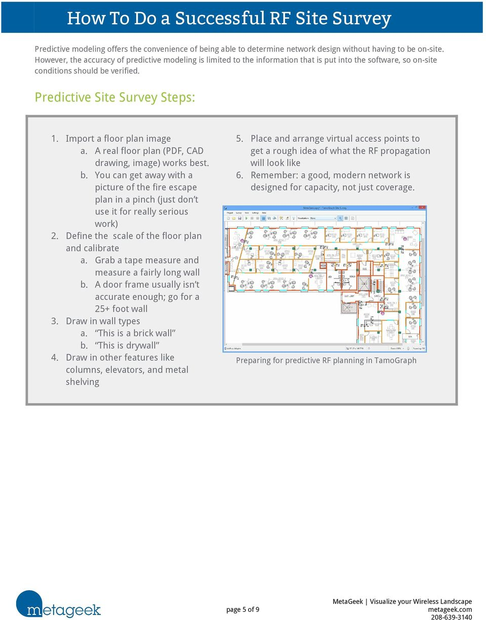 How To Do a Successful RF Site Survey  Overview - PDF