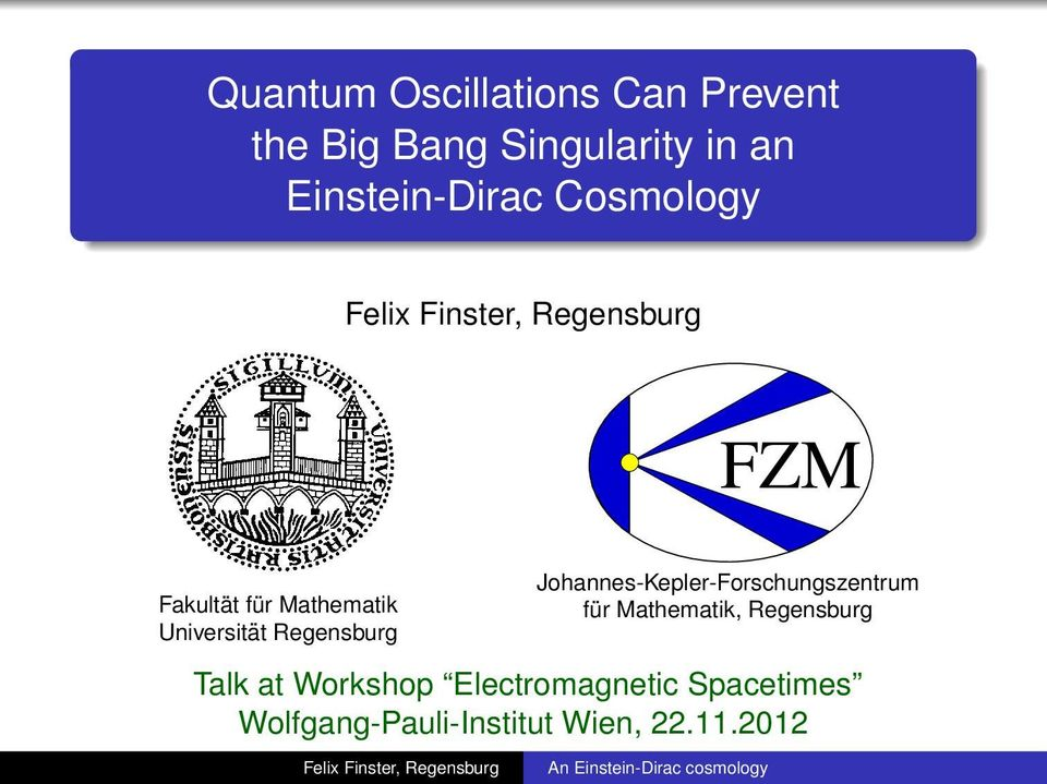 Quantum Oscillations Can Prevent the Big Bang Singularity in