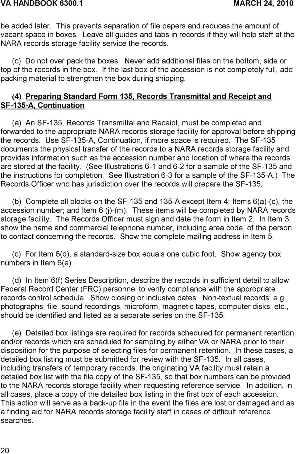 Department Of Veterans Affairs Va Handbook Records Management Telephone Record Control Never Add Additional Files On The Bottom Side Or Top In