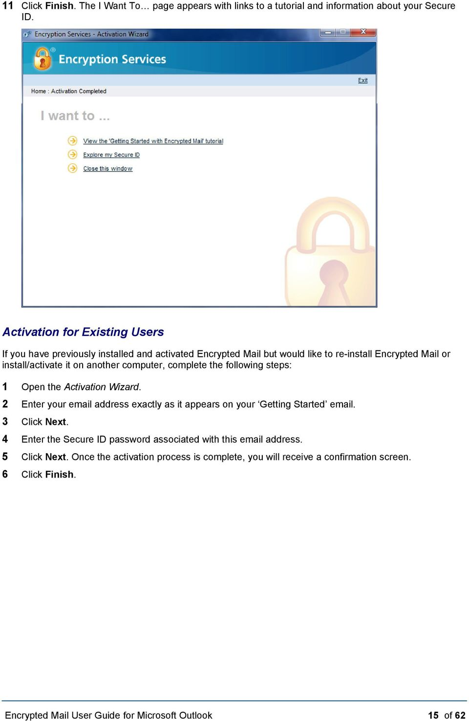 Encrypted Mail User Guide  for Microsoft Outlook - PDF