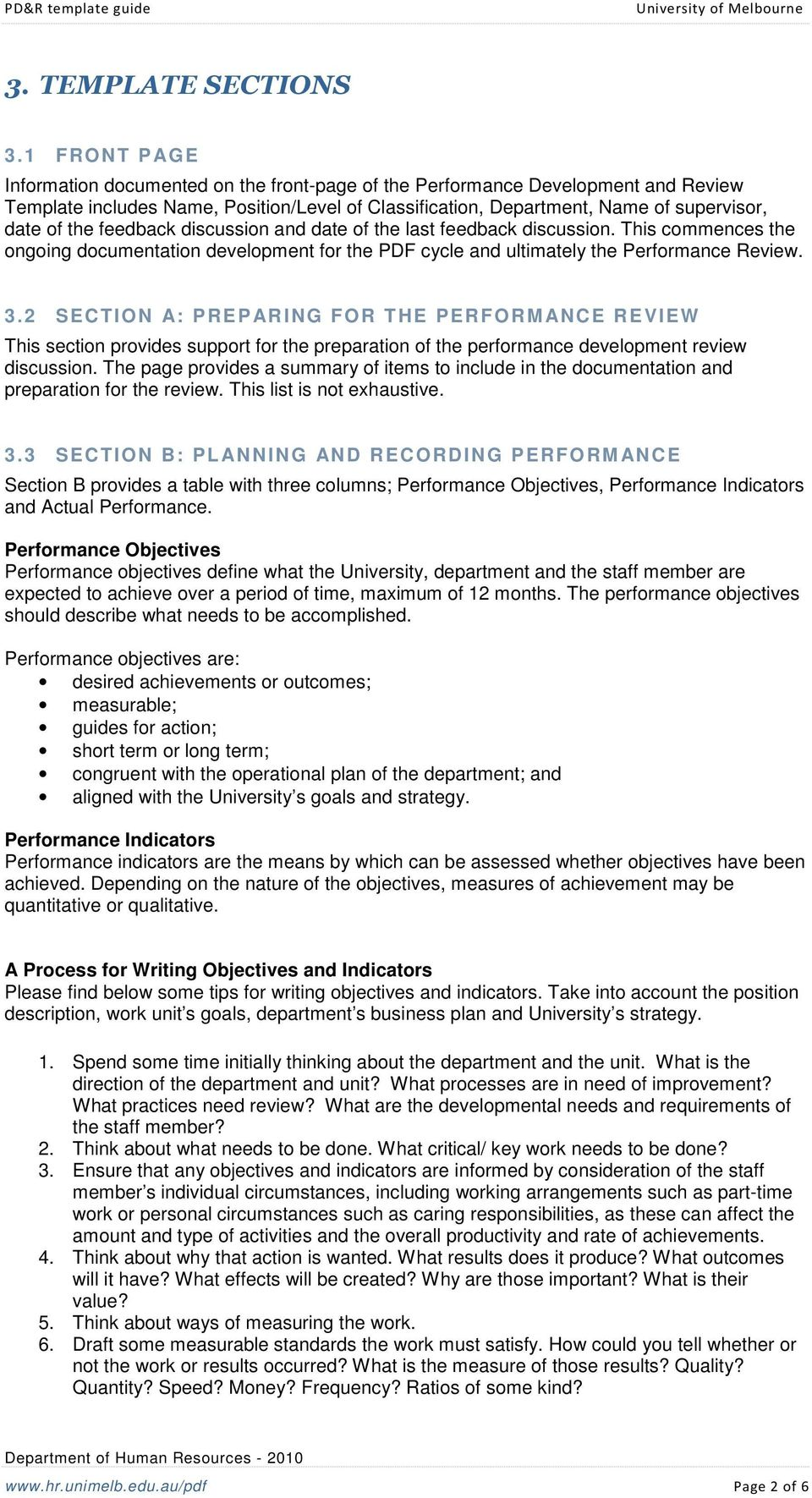 Performance Development And Review Template Guide Pdf Free Download