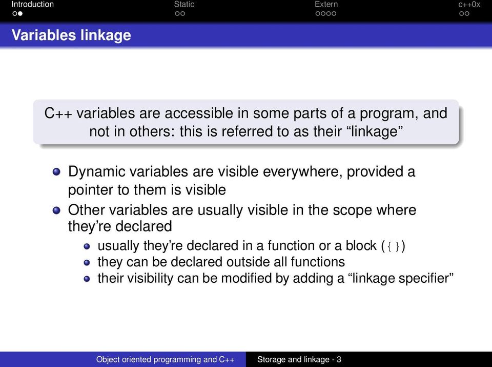Storage and linkage specifiers - PDF
