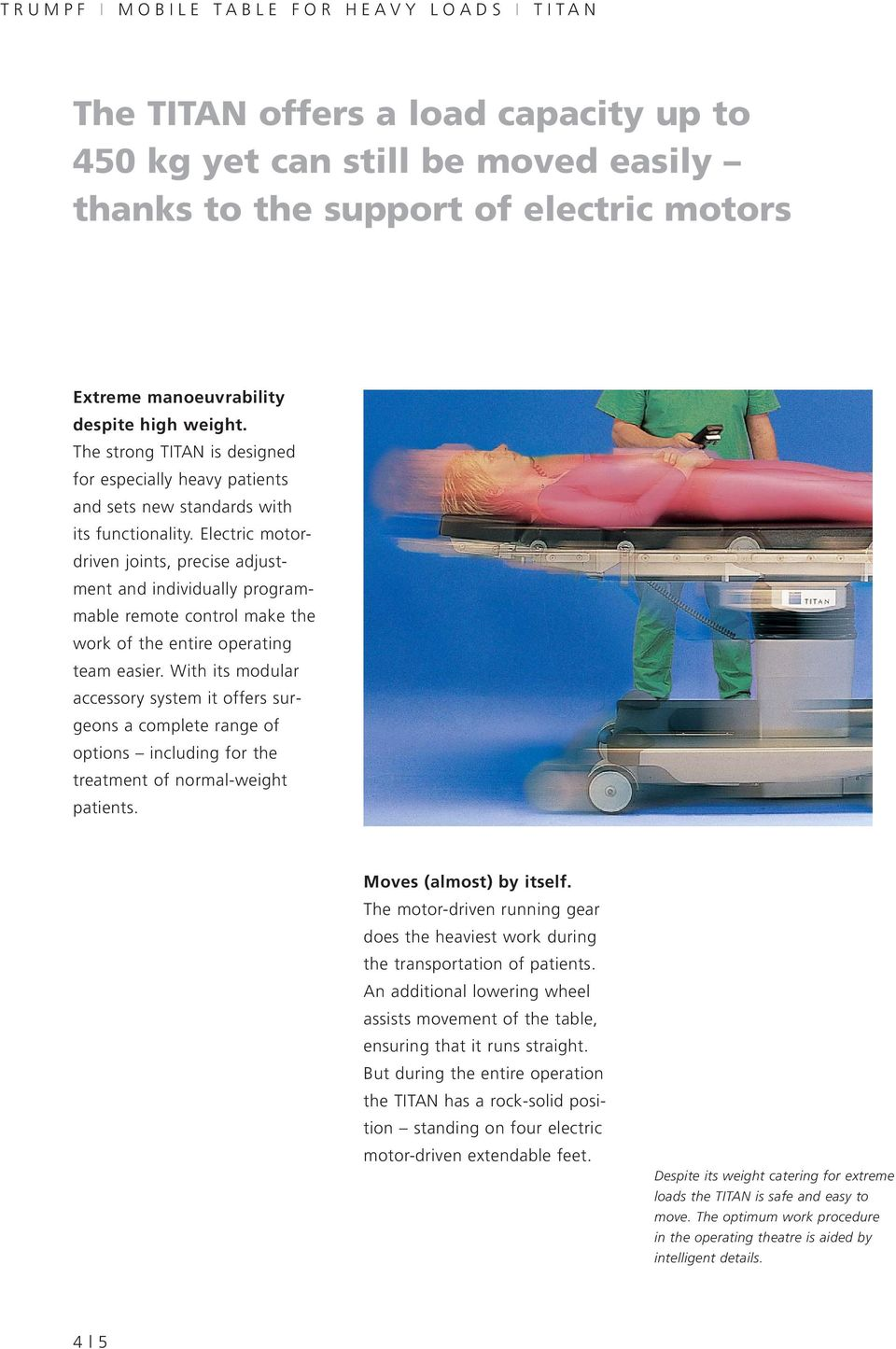 TRUMPF I TITAN The operating table for extreme Requirements - PDF