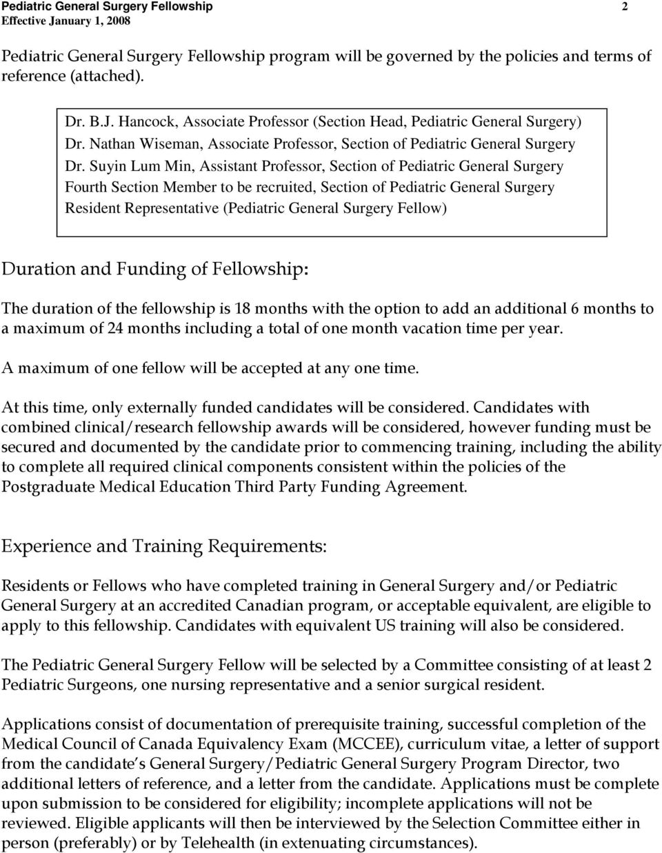 Pediatric General Surgery Fellowship - PDF