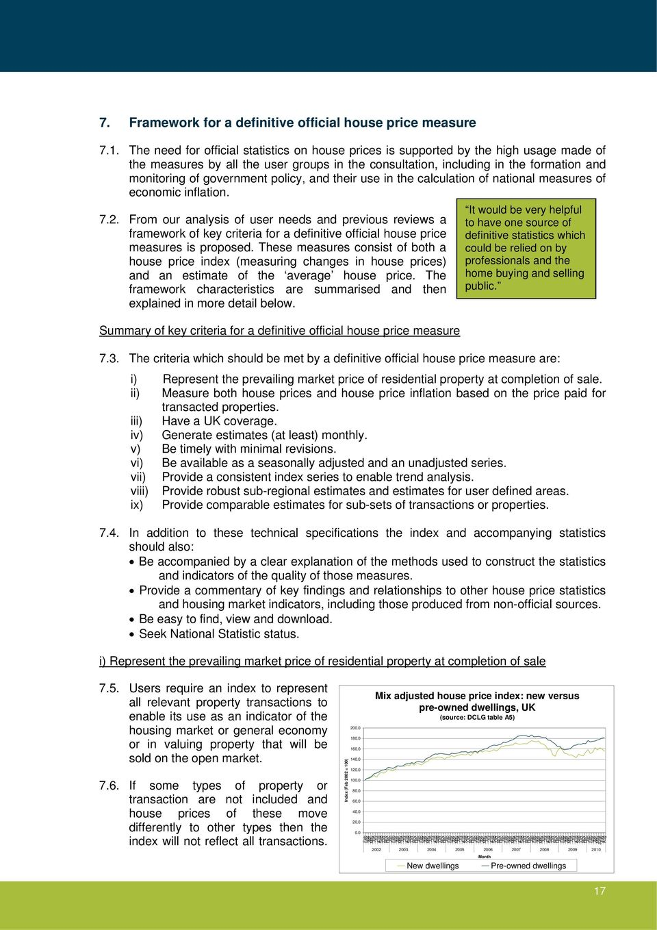government policy, and their use in the calculation of national measures of economic inflation. 7.2.