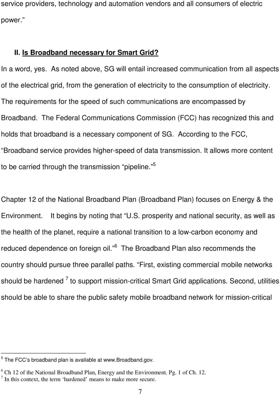 Status Report On Broadband Deployment By Electric And Gas Utilities Electrical Grid Plan The Requirements For Speed Of Such Communications Are Encompassed
