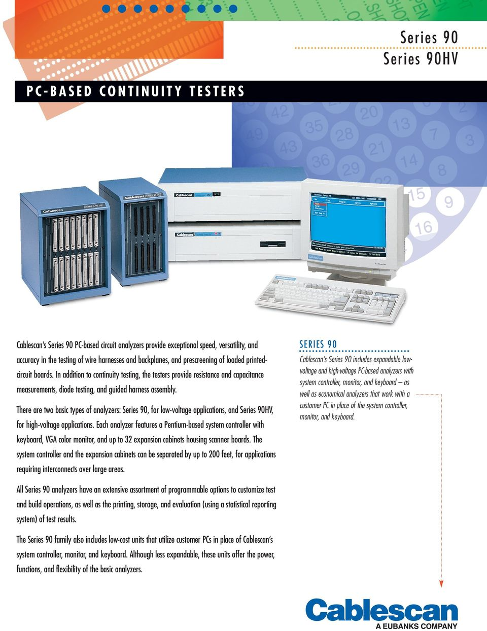 Series 90 90hv Pdf How To Make A Continuity Tester Circuit Economical Analyzers That Work With Customer Pc In Place Of The System Controller Monitor