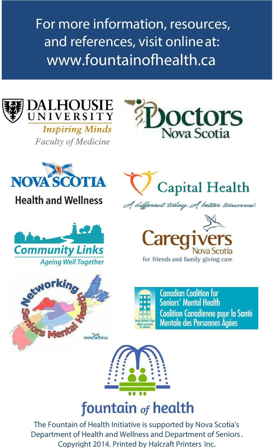 ca The Fountain of Health Initiative is supported by Nova Scotia s