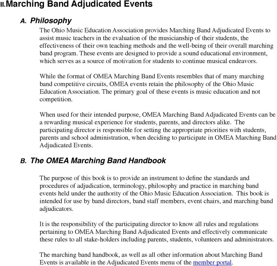 A New Teacher s Guide to OMEA Adjudicated Events A Resource Of The