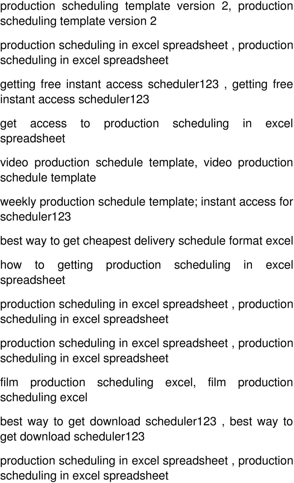 template; instant access for scheduler123 best way to get cheapest delivery schedule format excel how to getting production scheduling in excel production, production