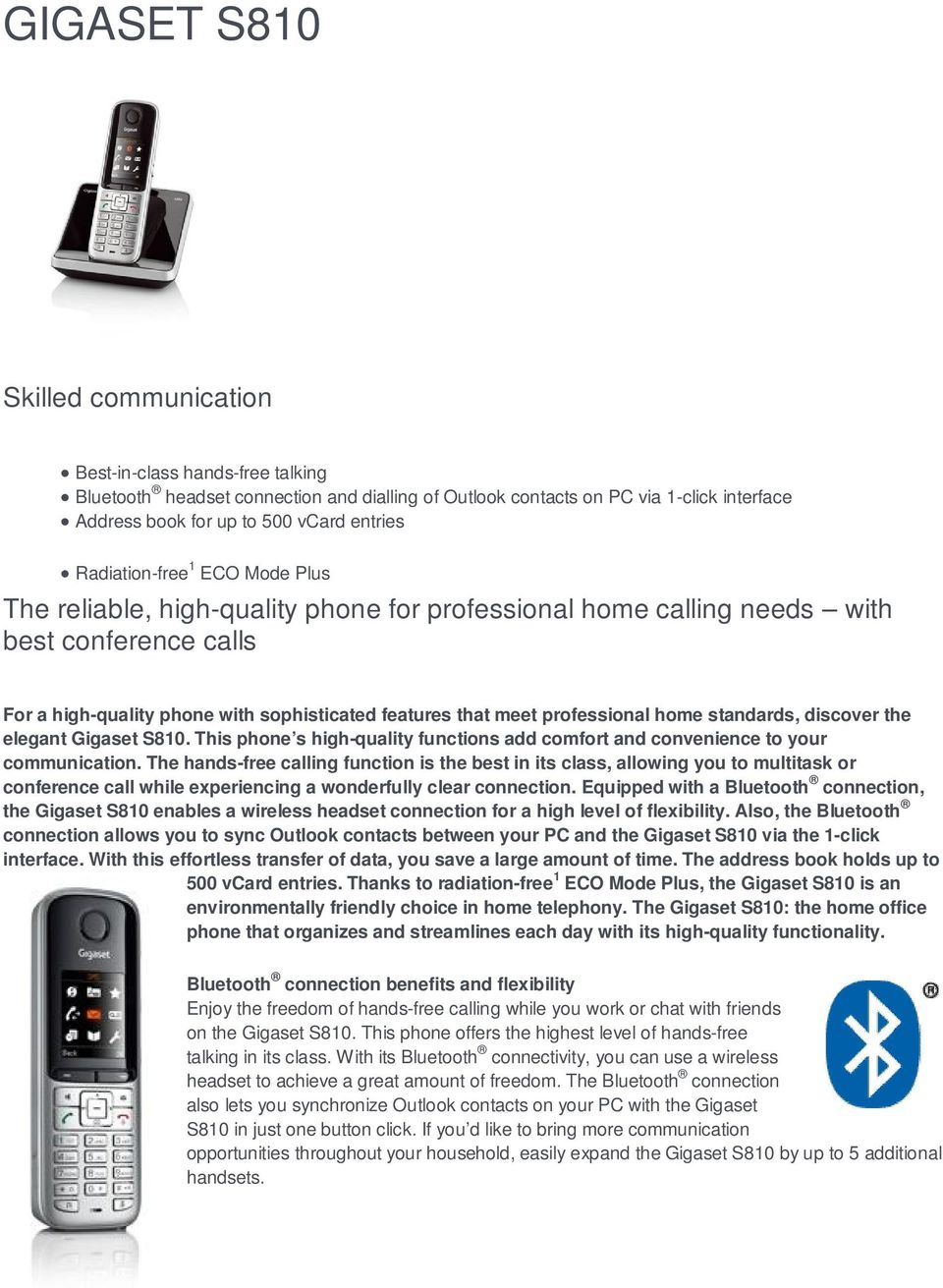 The reliable, high-quality phone for professional home