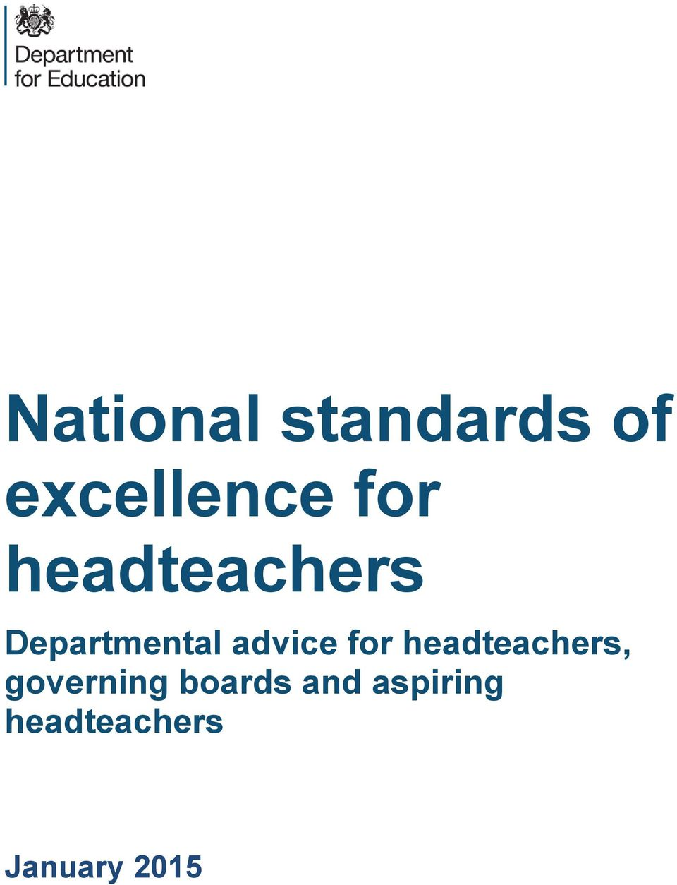 advice for headteachers, governing