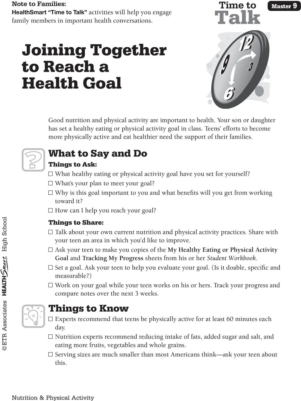 Lesson 8 Setting Healthy Eating & Physical Activity Goals - PDF