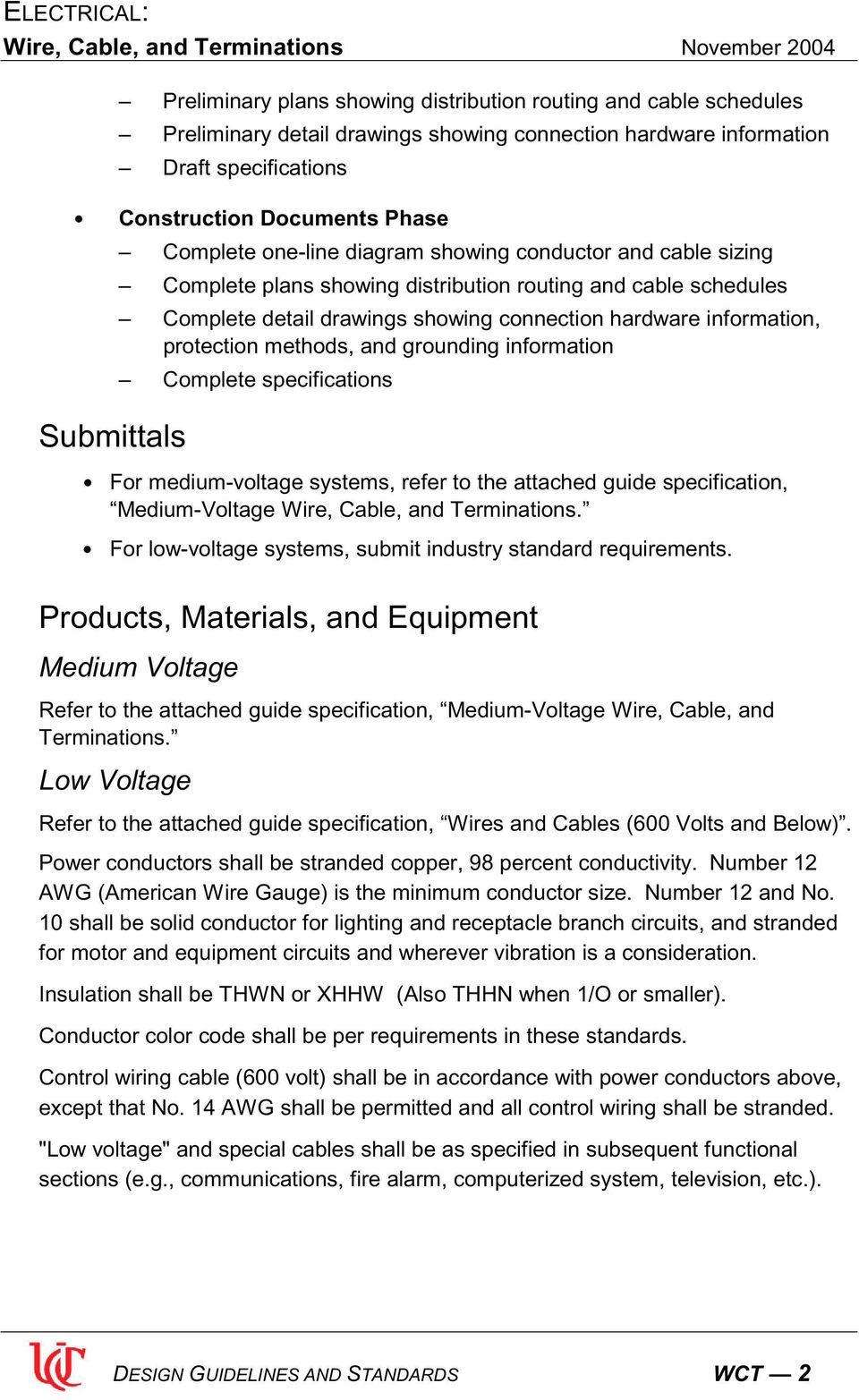 Electrical Wire Cable And Terminations Pdf Color Code Requirements Protection Methods Grounding Information Complete Specifications Submittals For Medium Voltage Systems Refer