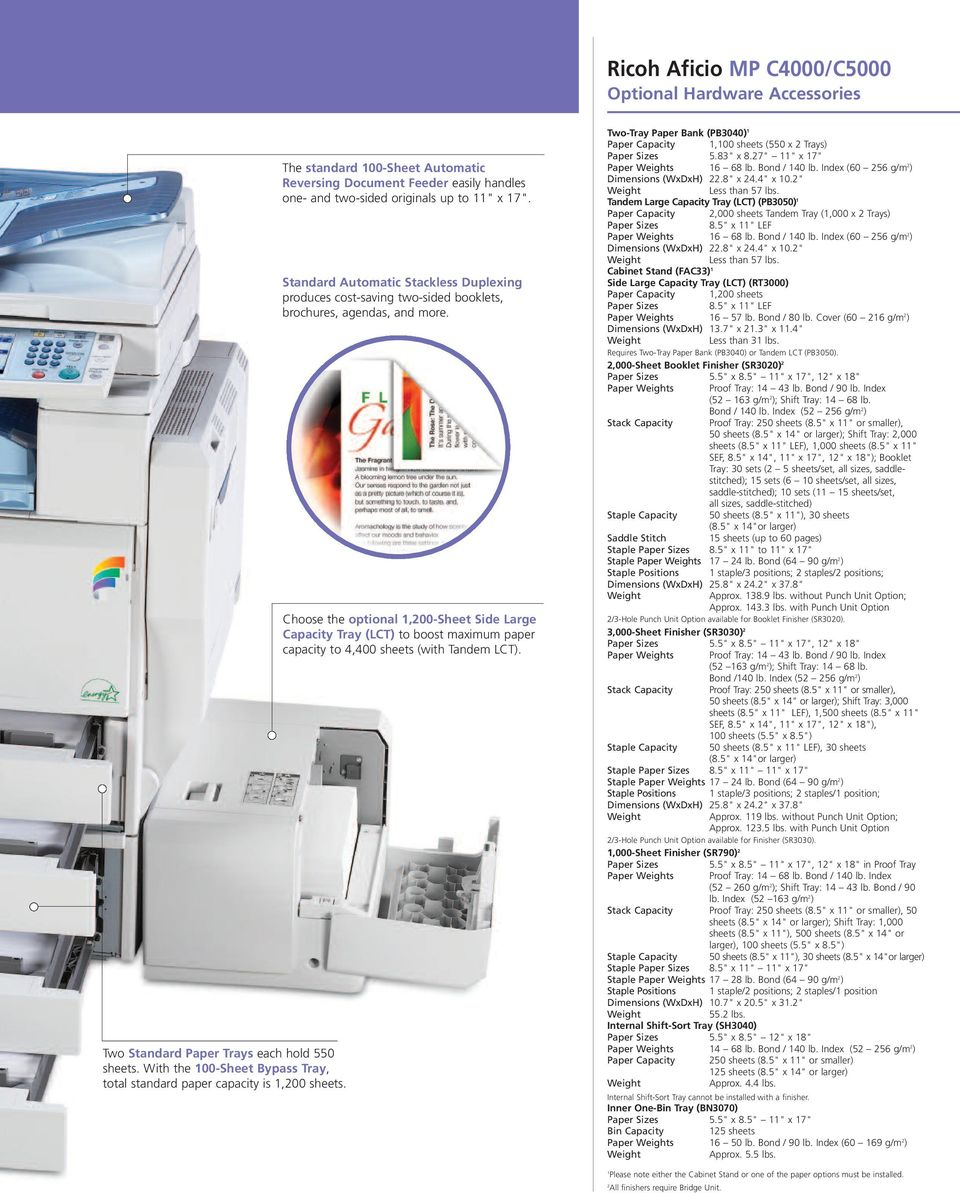 Ricoh Aficio MP C4000SPF Multifunction PCL Drivers for Windows Download