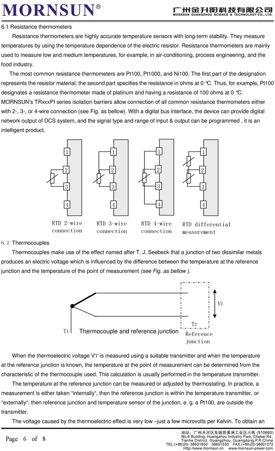 Application Notes Of Signal Isolators Pdf 20 Ma Current Loop Measuring Circuits Basics I Industrial Resistance Thermometers Are Mainly Used To Measure Low And Medium Temperatures For Example In