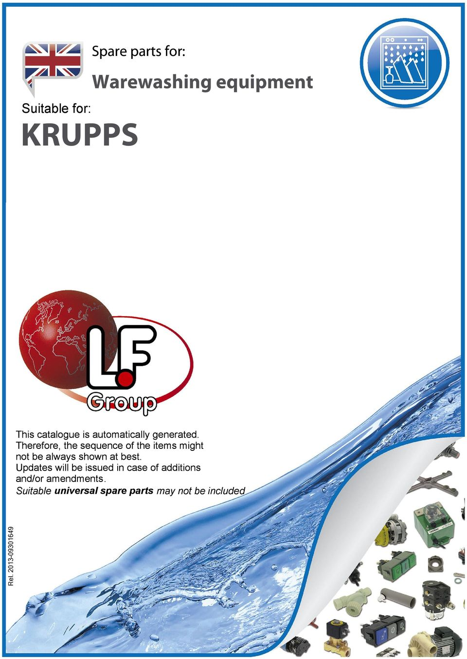 Krupps Warewashing Equipment Spare Parts For Suitable Pdf Universal Multiflex Frigidaire Electric Dryer Wiring Diagram Herefore The Sequence Of Items Might Not Be Always Shown At Best