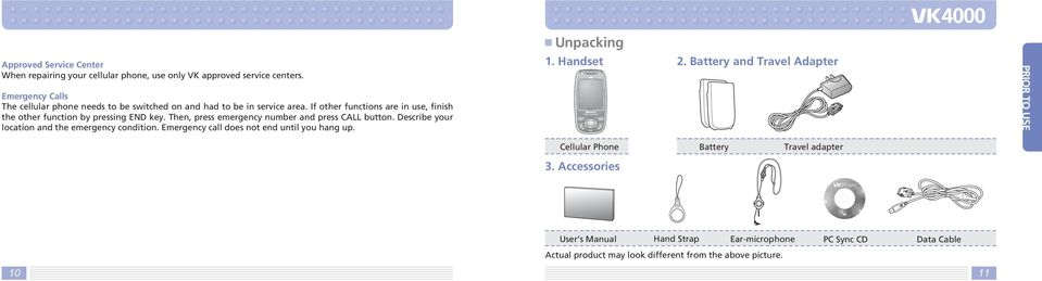 Hello, Thank you for purchasing VK cellular phone  - PDF