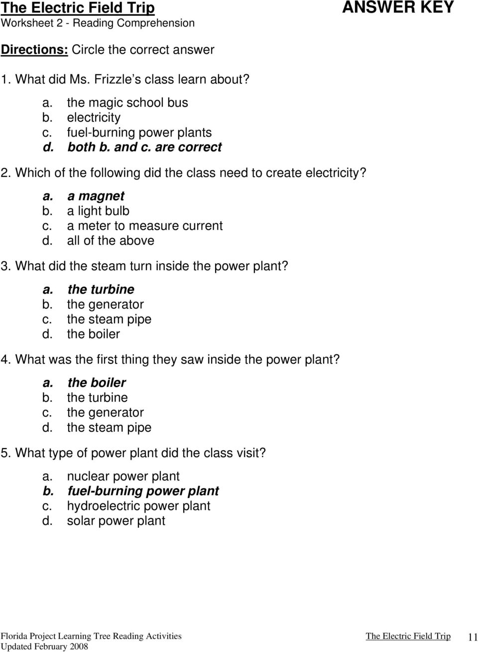 The magic school bus and the electric field trip written by joanna all of the above 3 what did the steam turn inside the power plant ibookread PDF