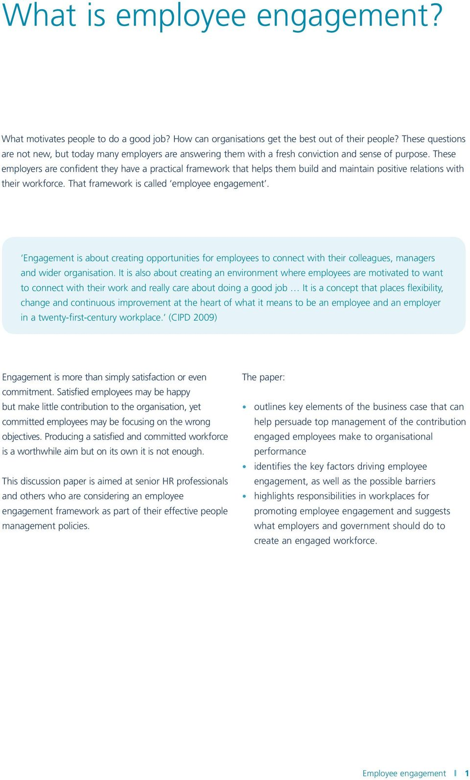 An HR director s guide to employee engagement - PDF