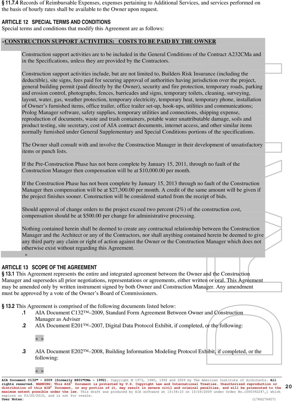 Aia Document C132 Tm Pdf