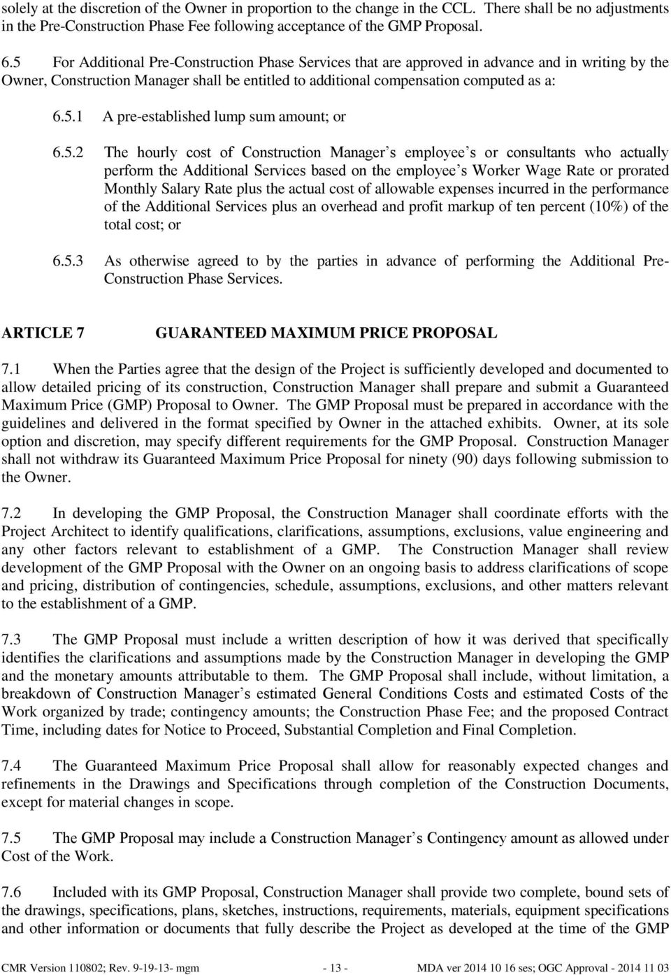 AGREEMENT BETWEEN OWNER AND CONSTRUCTION MANAGER-AT-RISK - PDF