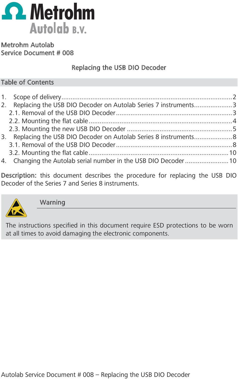 Replacing the USB DIO Decoder - PDF