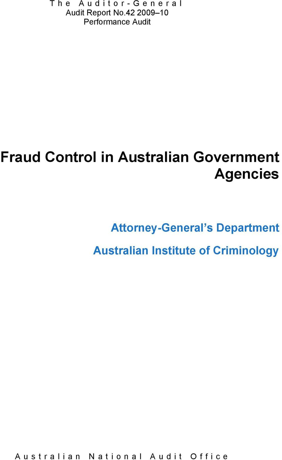Government Agencies Attorney-General s Department Australian