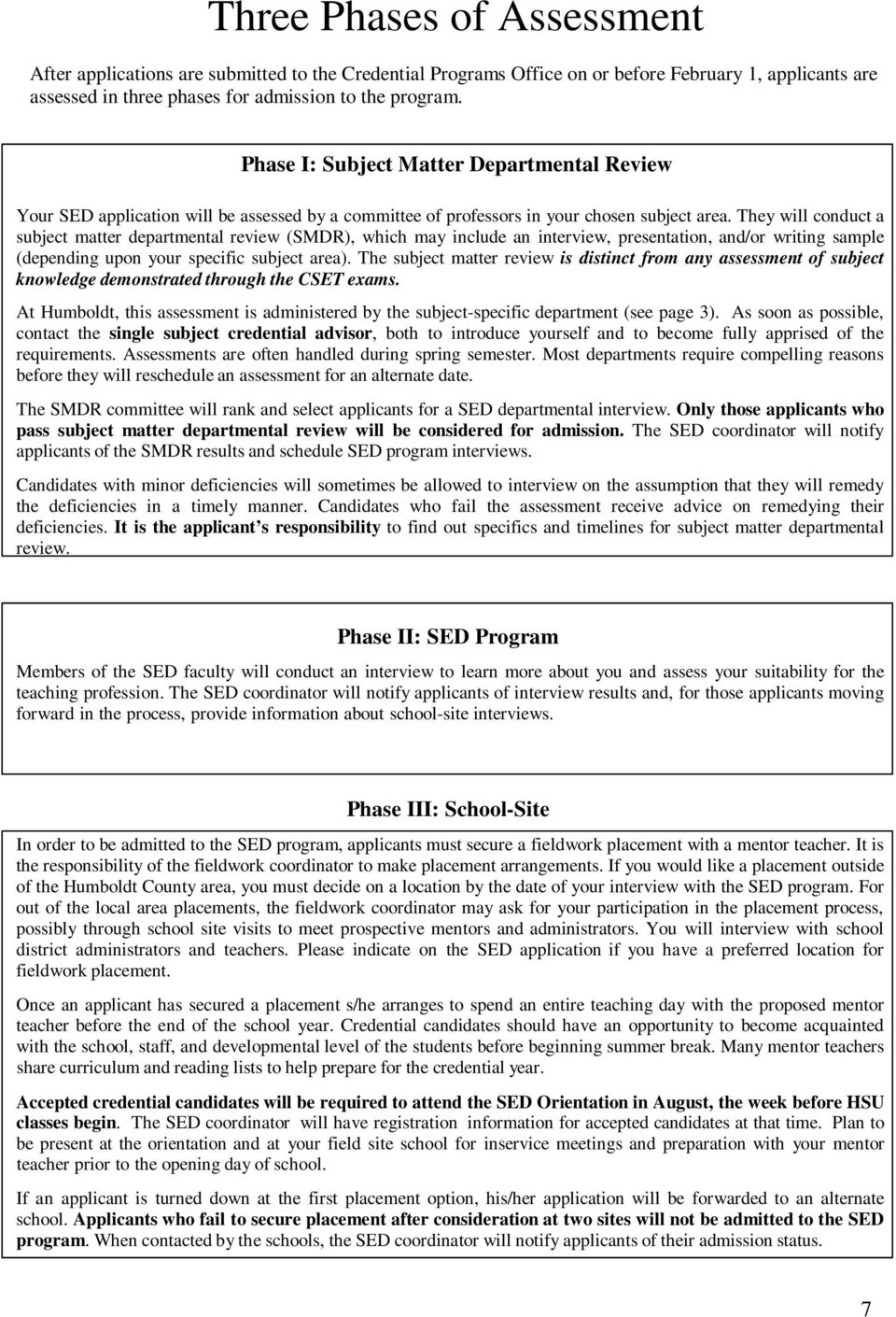 Secondary Education Credential Program Admission Guide Pdf