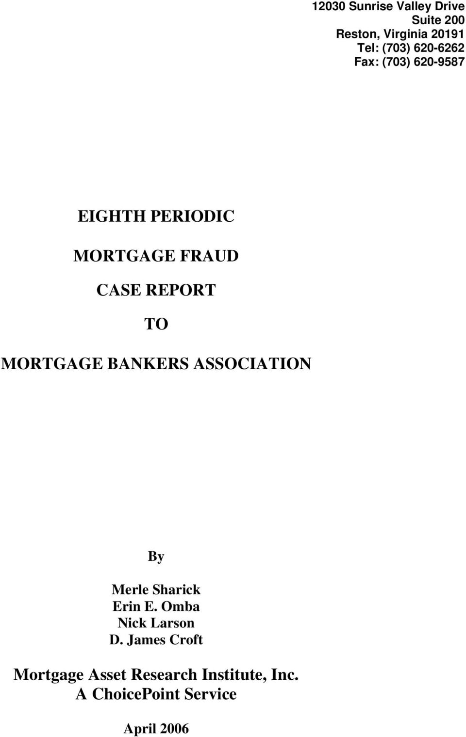 Mortgage Asset Research Institute - PDF
