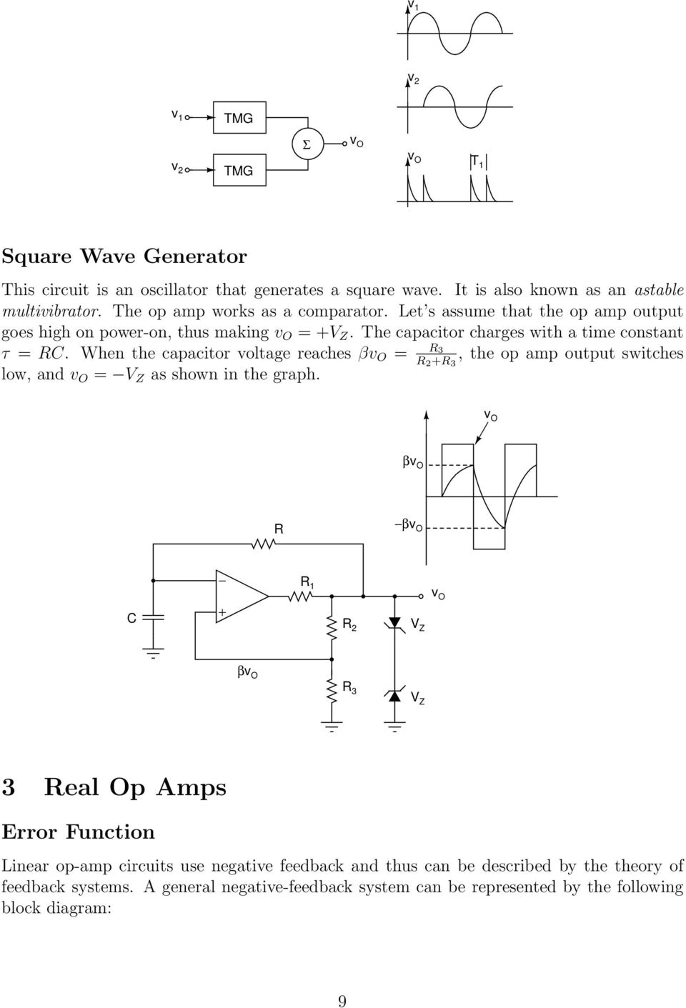 Basic Op Amp Circuits Pdf Negative Voltage Generator Circuit Diagram Using Ic 555 When The Capacitor Reaches V O R 3