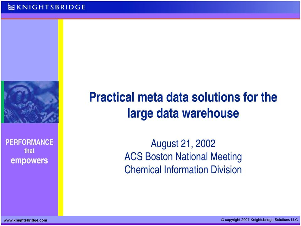 2002 ACS Boston National Meeting Chemical Information Division