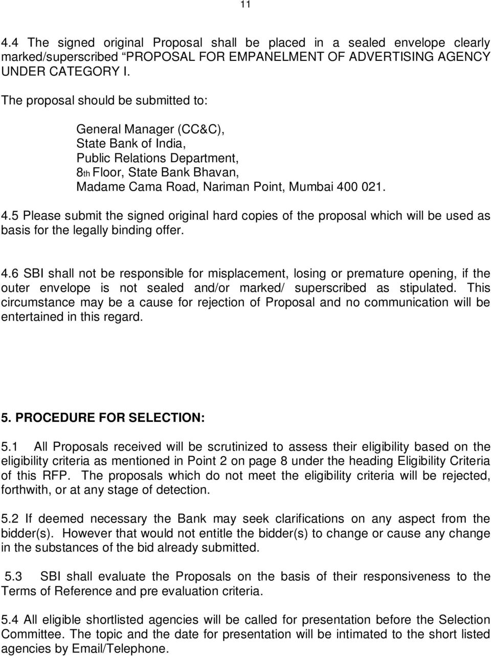 REQUEST FOR PROPOSAL FOR EMPANELMENT OF ADVERTISING AGENCIES