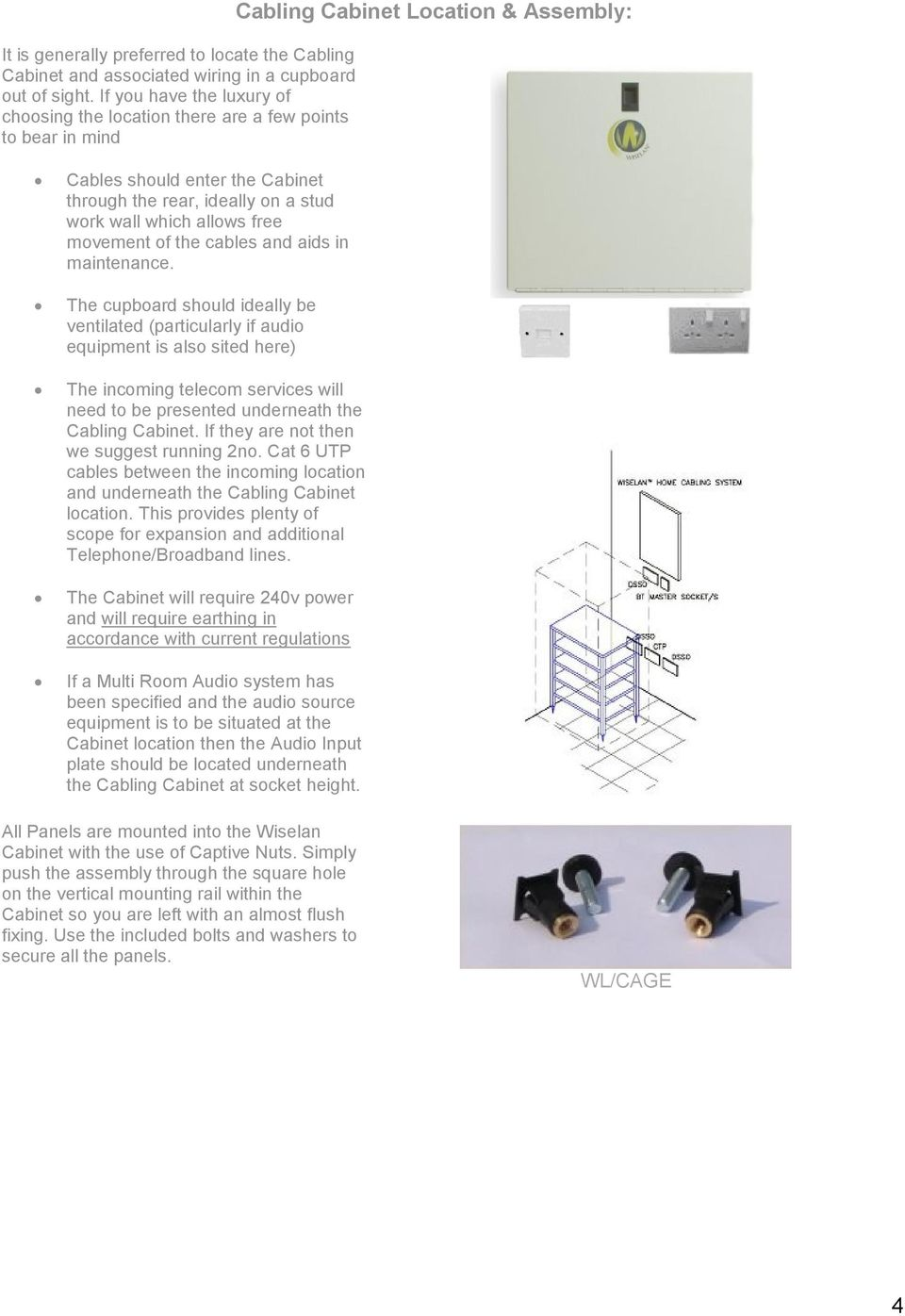 Home Cabling Installation Guide Pdf Wall Mount Ethernet Jack Wiring Diagram Also Neat Patch Cable Which Allows Free Movement Of The Cables And Aids In Maintenance