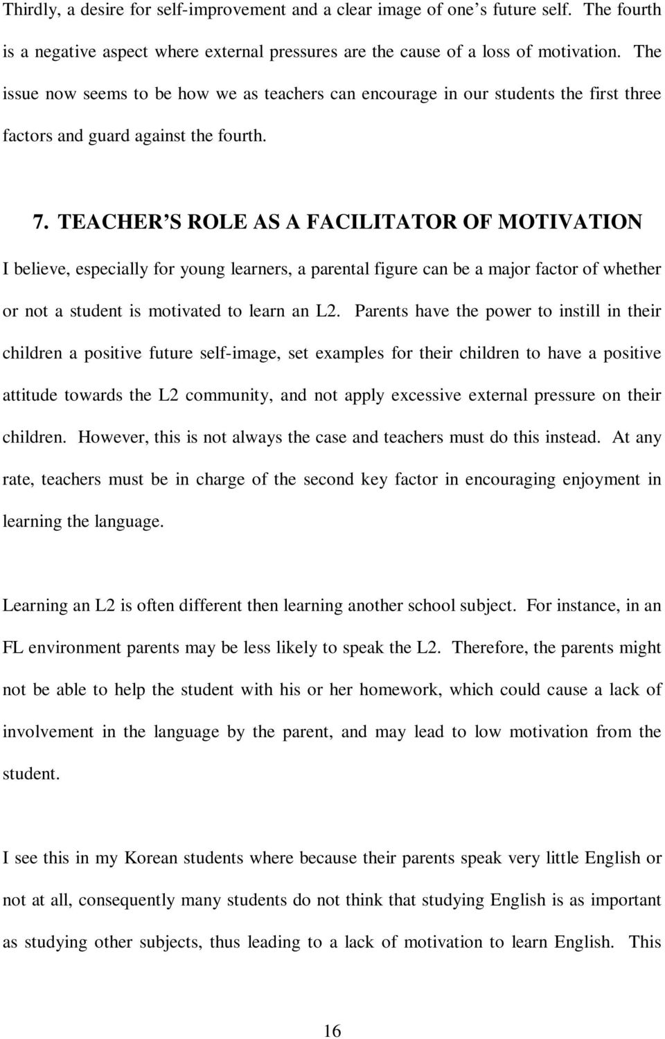 Key Motivational Factors and How Teachers Can Encourage