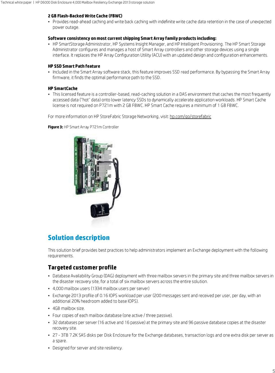 HP D6000 Disk Enclosure 4,000 Mailbox Resiliency Exchange