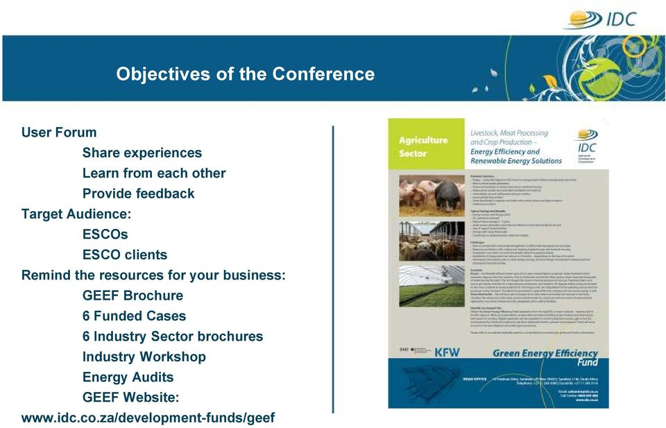 resources for your business: GEEF Brochure 6 Funded Cases 6 Industry Sector