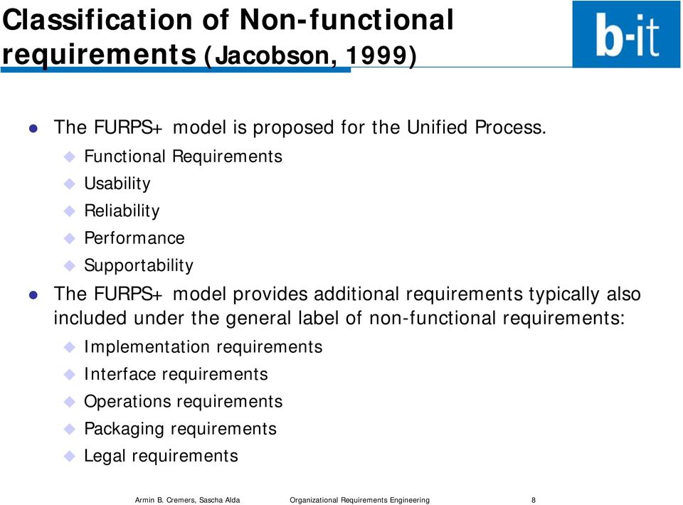Organizational Requirements Engineering - PDF